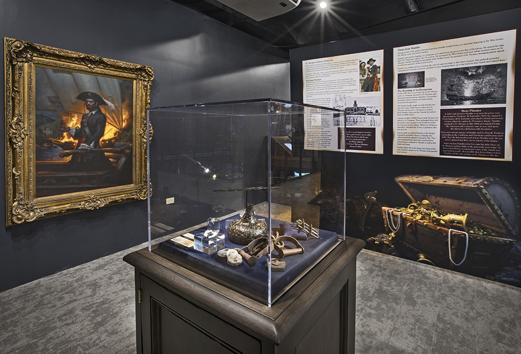 The Jean Hamlin exhibit at the Pirates Treasure Museum