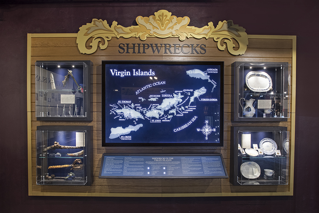 VI Shipwreck Display at the Pirates Treasure Museum